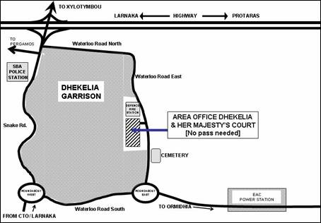 Area Office Dhekelia Map Location
